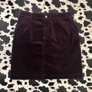 NWT Brooks Brothers Velvet Skirt